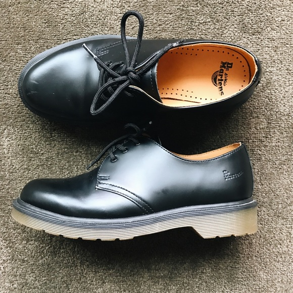 ffe2629b0bf23 Dr. Martens Shoes - Dr Martens 1461 PW Smooth Leather 3-Eye Shoes